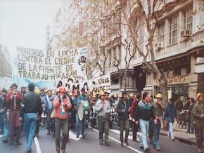 Manifestación de mineros de Sierra Grande. 1991