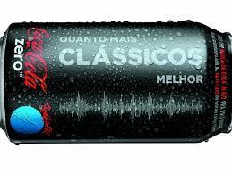 Lata de Coca-cola Zero com música