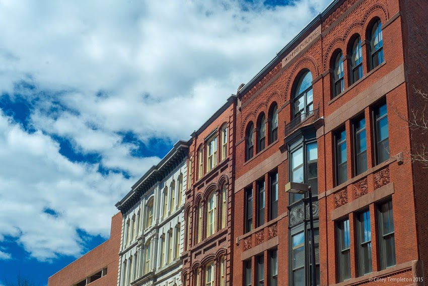 Portland, Maine April 2015 Buildings on Middle Street in the Old Port. Photo by Corey Templeton.