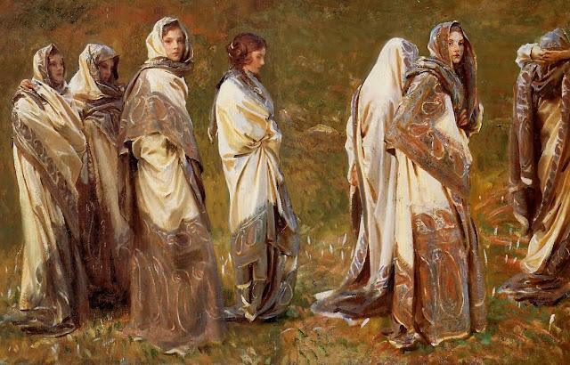 Cashmere,muslim women, sargent