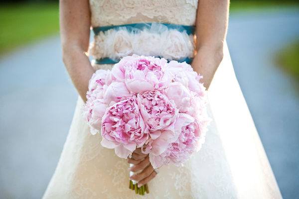 pale pink peonies wedding bouquet Wedding Inspiration: Peony Bouquets