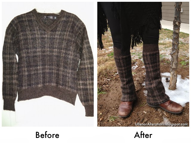 Ulterior Alterations: Leg Warmers Refashioned from a Sweater