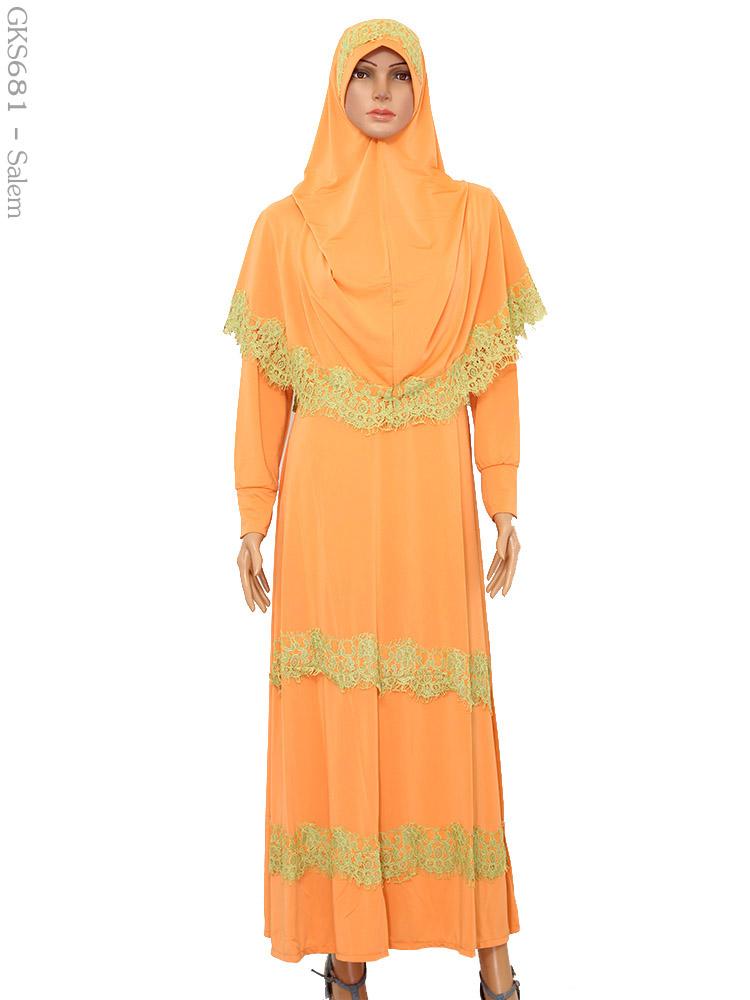 Gamis cantik muslimah gks681 busana muslim murah terbaru Suplier baju gamis remaja harga pabrik bandung