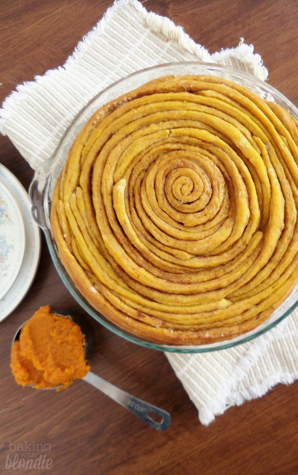 Giant Pumpkin Cinnamon Roll Cake