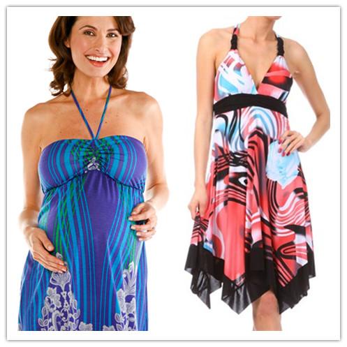 sexy summer halter maternity dresses