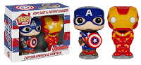 POP! HOME SALT AND PEPPER SHAKERS CAPTAIN AMERICA/IRON MAN