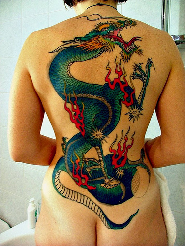 WHORE.. Will asian dragon tatoos