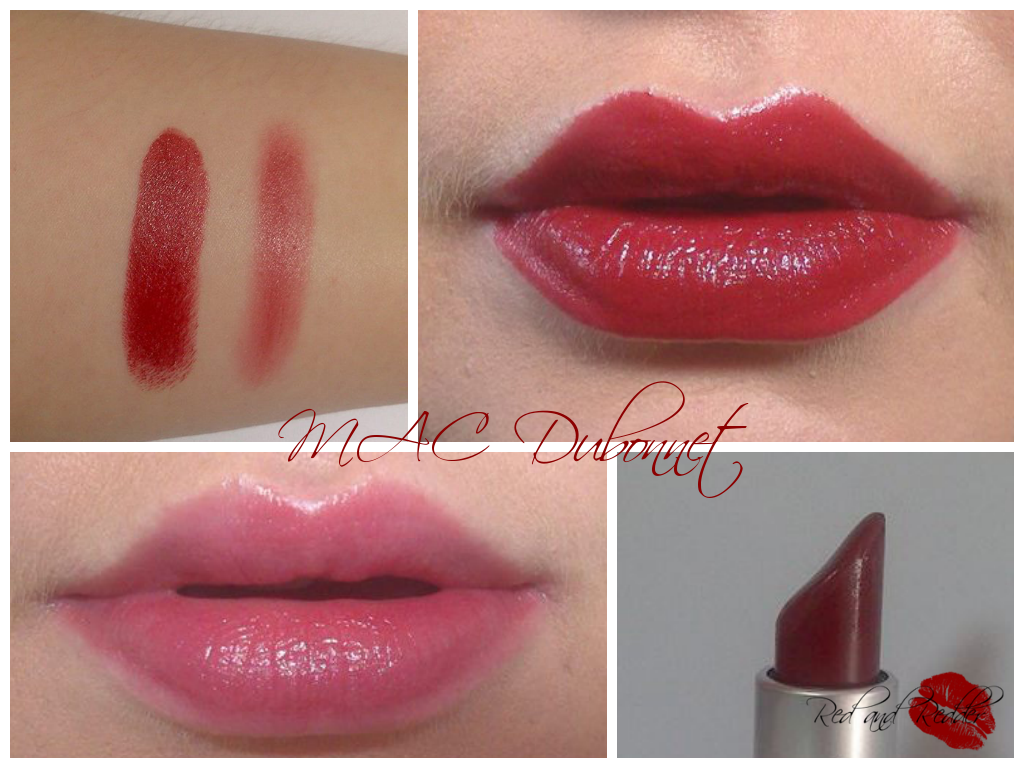 MAC Dubonnet dark red lipstick swatch and review