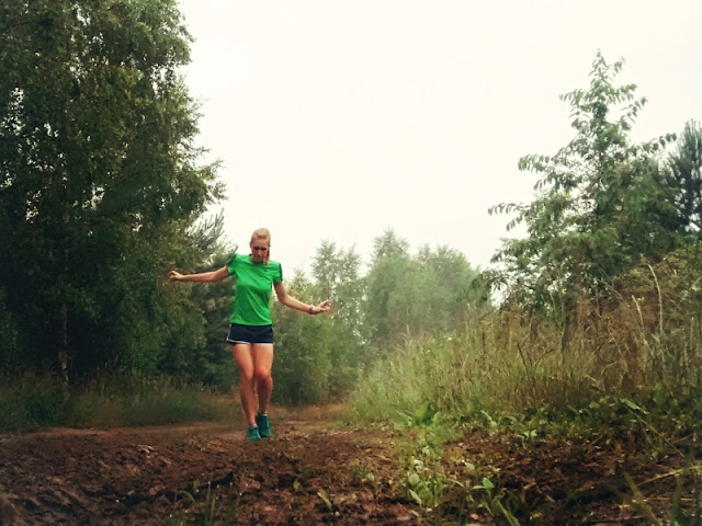 Running girl, Forest