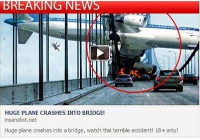 فيديو مذهل لأخطر حادث سقوط طائرة بعد ارتطامها بكبري !!!!