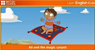 http://learnenglishkids.britishcouncil.org/en/short-stories/ali-and-the-magic-carpet