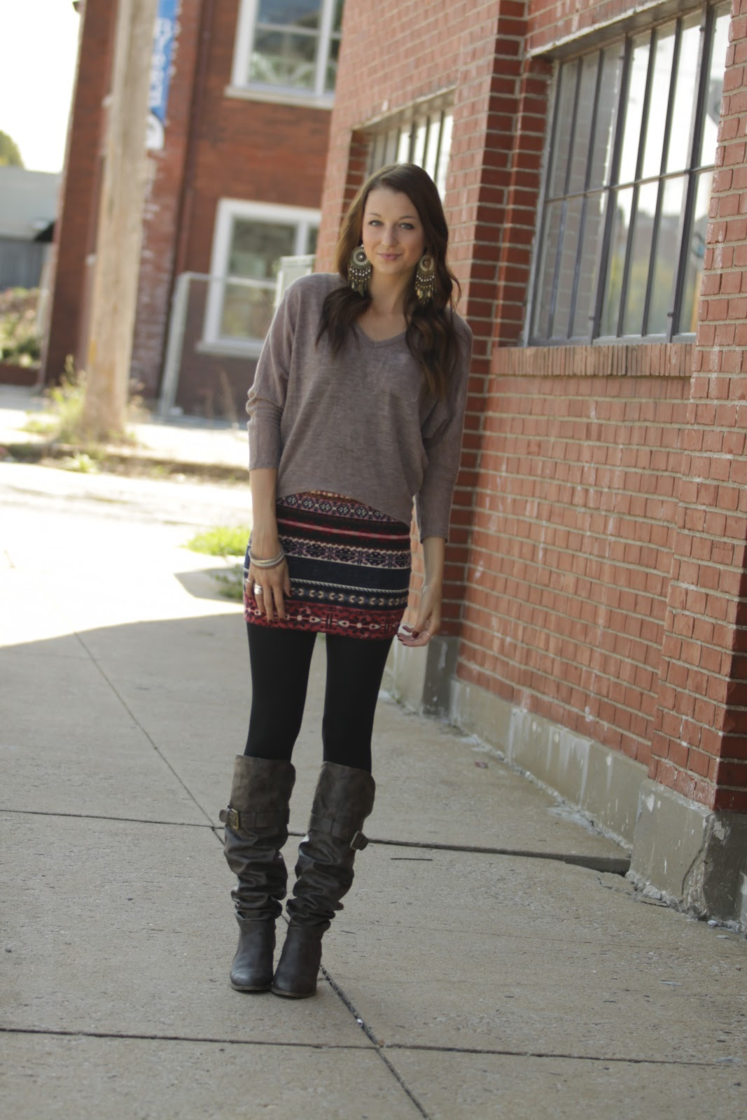Love Lenore 4 Ways to Style a Fall Skirt {4}.