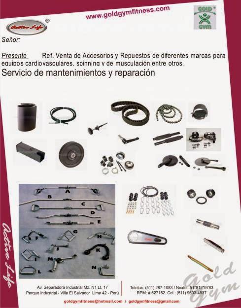 Repuestos y accesorios para gimnasio venta maquinas para for Articulos para gimnasio