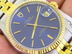 TUDOR PRINCE OYSTERDATE SUNBURST BLUE DIAL - ROTOR SELF WINDING - AUTOMATIC