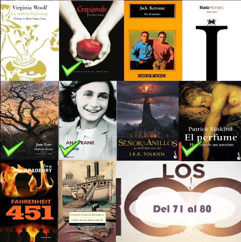 71 al 80 de los 100 mejores libros de todos los tiempos