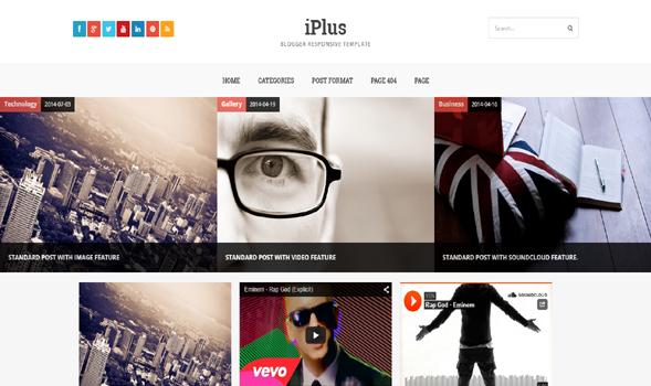 iPlus-Responsive-Blogger-Template