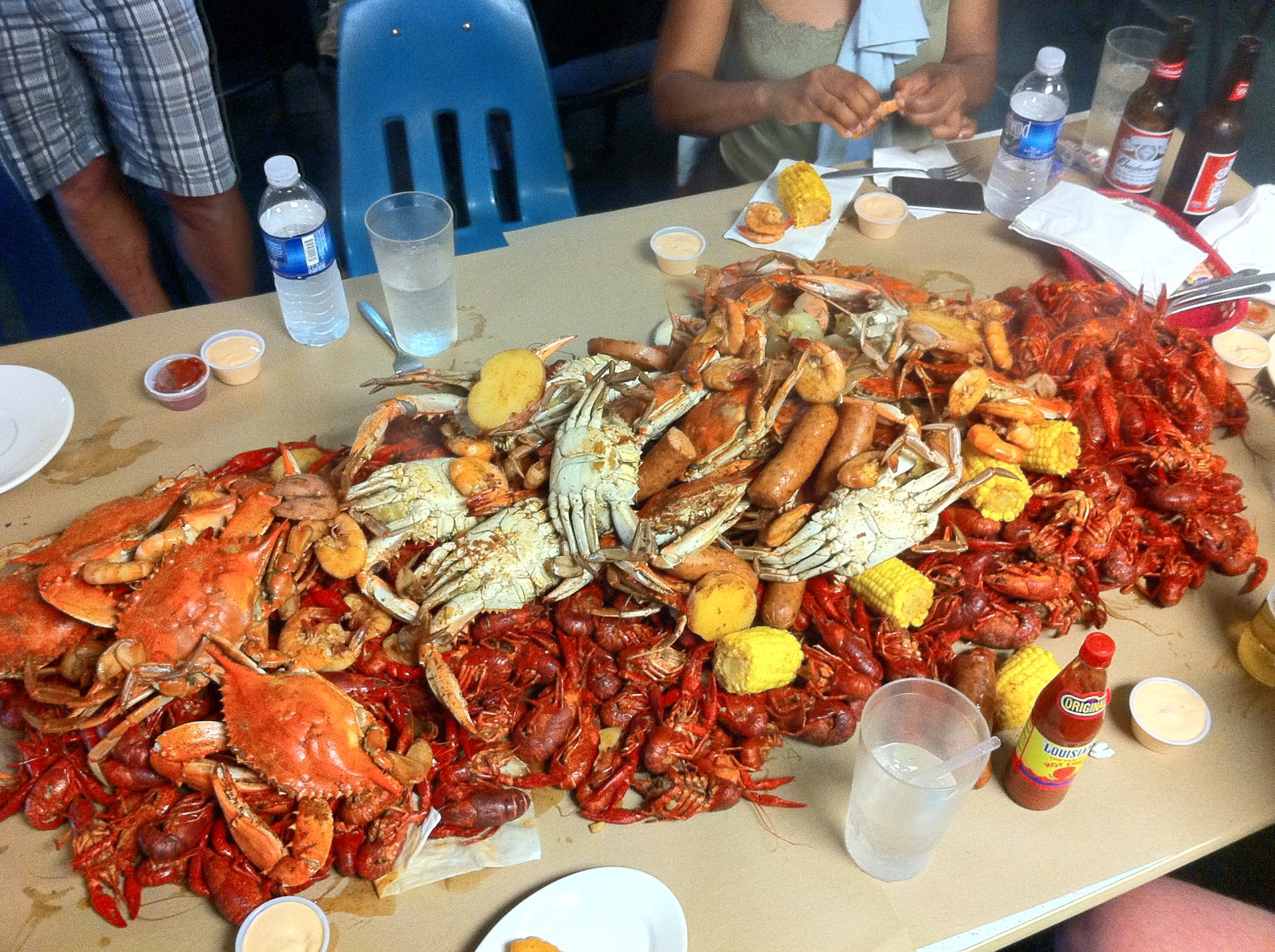 Boiled Crawfish, Crabs And Shrimp At Susie's Seafood In Morgan City, La