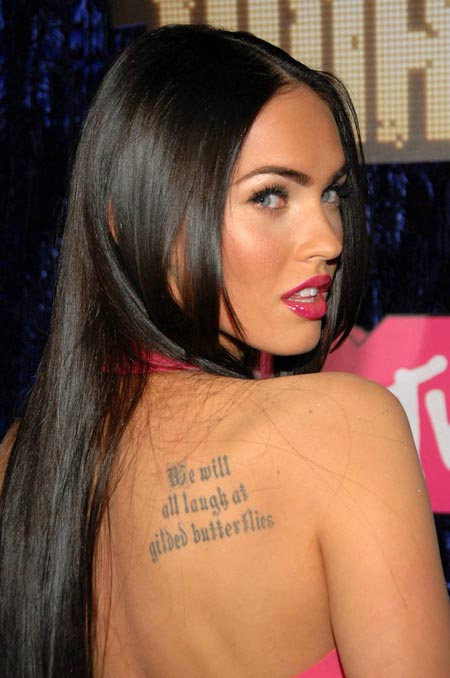 1 The first Megan Fox tattoo is her favorite tattoo which happens to be