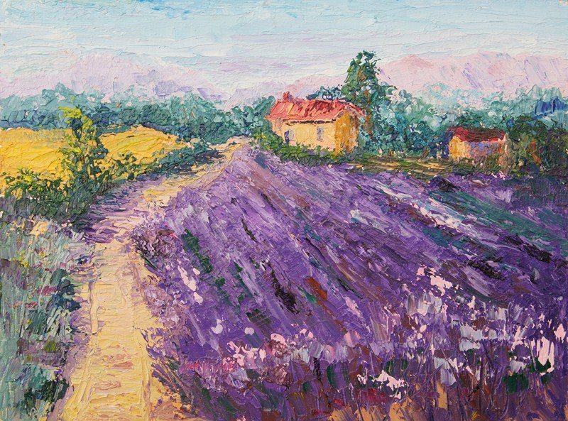 Image result for images of famous paintings with lavender fields