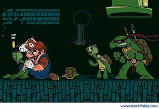 mario Bros y la tortuga ninja