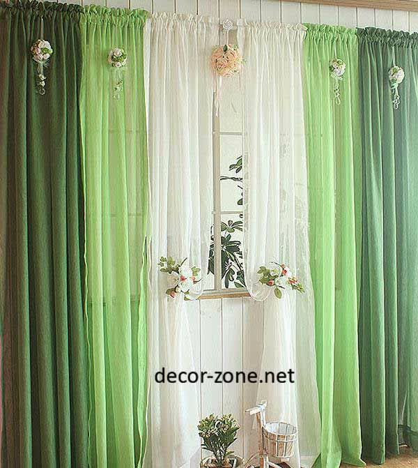 Modern kitchen curtains ideas from south korea for 3 window curtain design