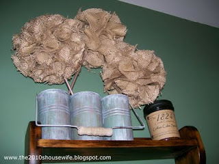 Burlap Topiaries Primitive Tutorial