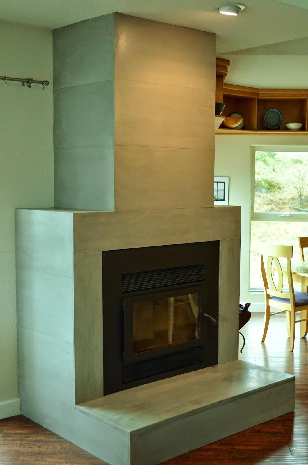 MODE CONCRETE: Contemporary Tiled Concrete Fireplace ...