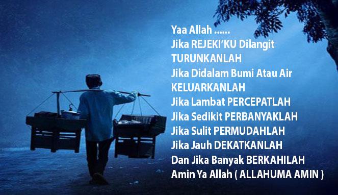 (Jangan Berhenti Berdo'a dan Mengambil Hikmah) - Cara Menarik Rejeki