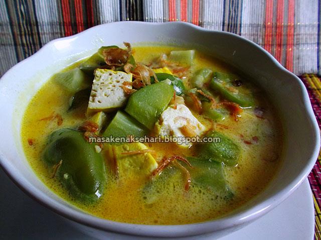 Resep Sayur Labu Siam Campur Tahu