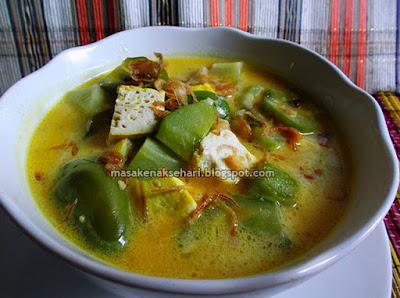 Cara Membuat Sayur Labu Siam Santan Kuning Resep Kuah Pedas