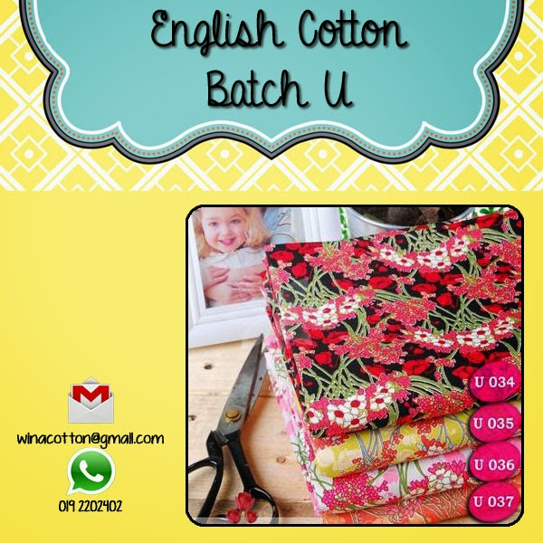 Latest English Cotton Potong Jari Kalau Tak Cantik