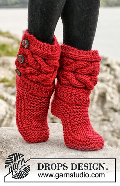 Rewritten Cable Slippers Pattern Iknits