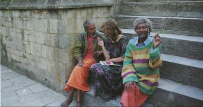 Sadhu am Pashupathinath, der fließend deutsch sprach