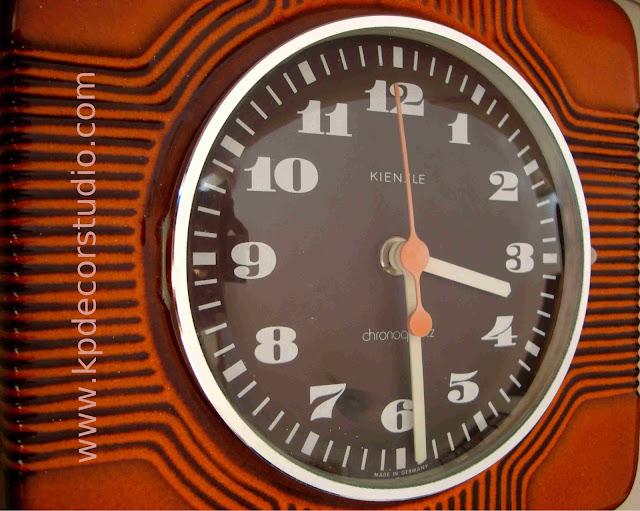 KP. Vintage. Comprar reloj vintage antiguo estilo pop años 60, cerámico, color rojo, aleman kienzle