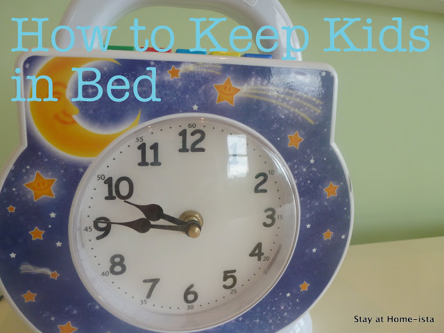 How to keep kids in bed with the tot clock