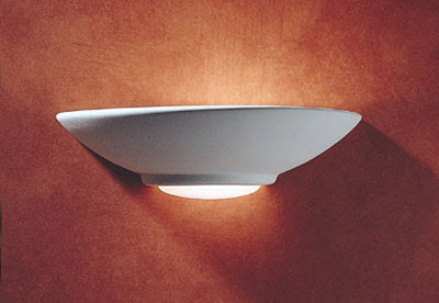 The stylish STE0748 Stella Uplighter, unglazed plaster wall lamp for interior