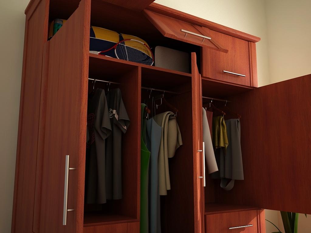 Af arquitectura y mobiliario closet en madera for Precio de zapateras de madera