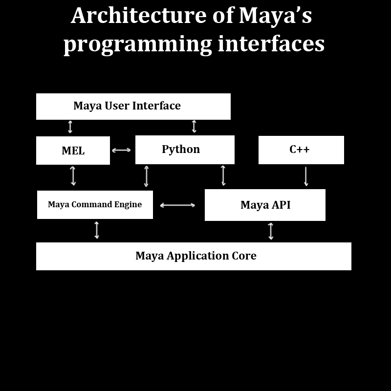 Teknical animation interacting with maya a flow chart for R language architecture