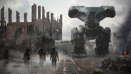 Mech In the Road por steve-burg