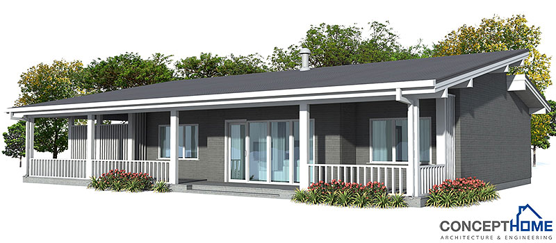 Affordable home plans affordable home plan ch23 for Economical to build house plans