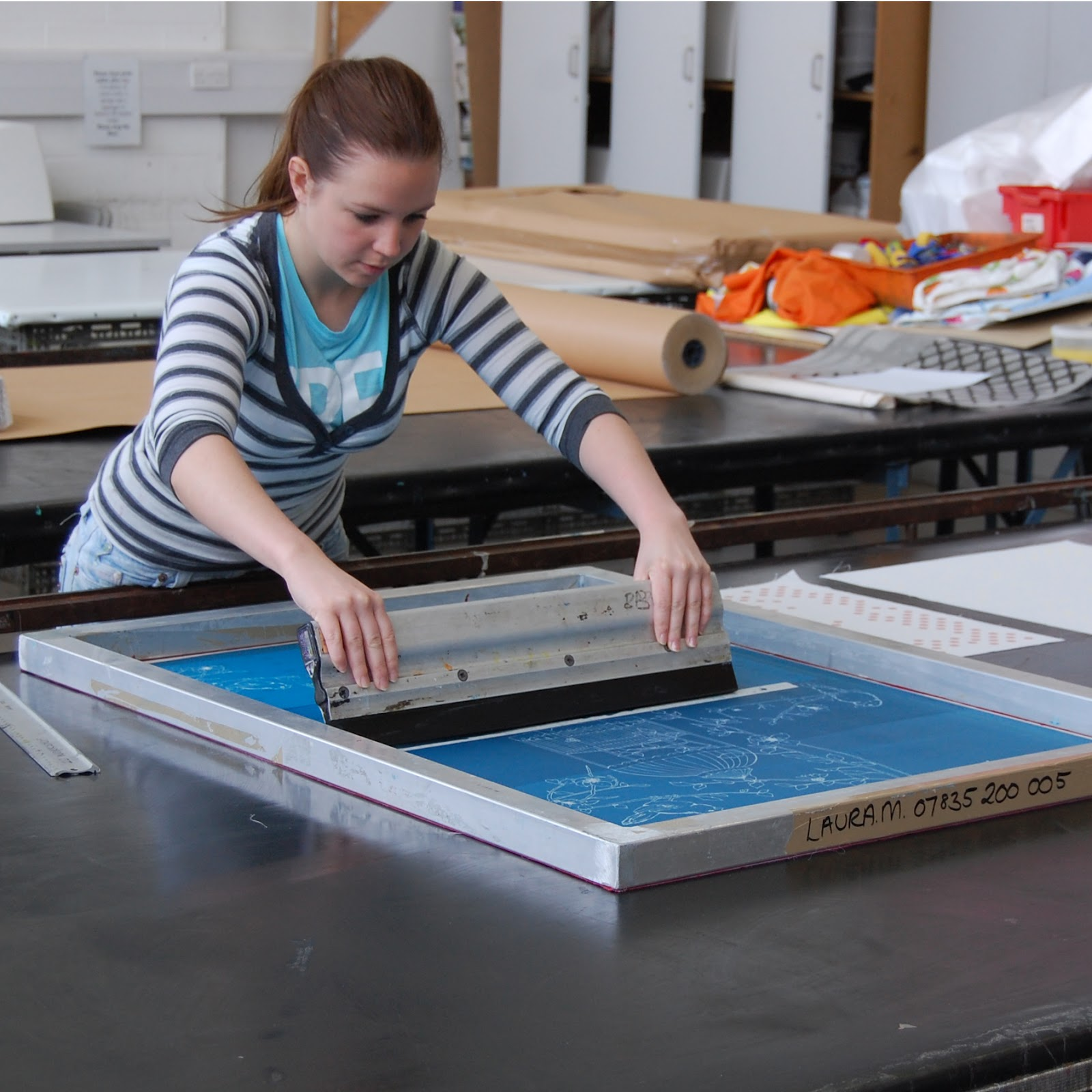 Laura felicity design my drop in screen printing workshop for Where can i get a shirt screen printed