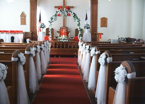 Wedding Pew Decor