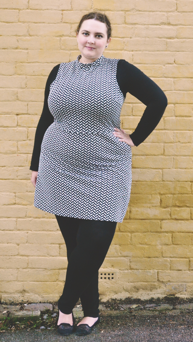 60s inspired plus size dress