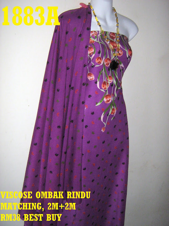 VOM 1883A: VISCOSE OMBAK RINDU MATCHING, 2M+2M, CORAK BUNGA TULIP