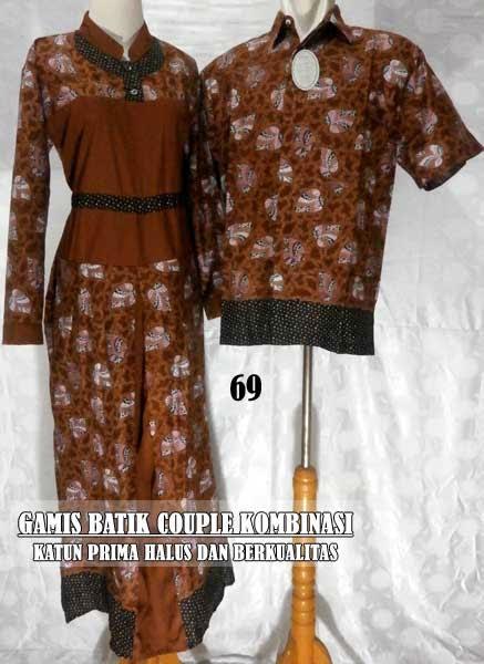 Baju Gamis Batik Couple Murah Edisi Terbaru 2015