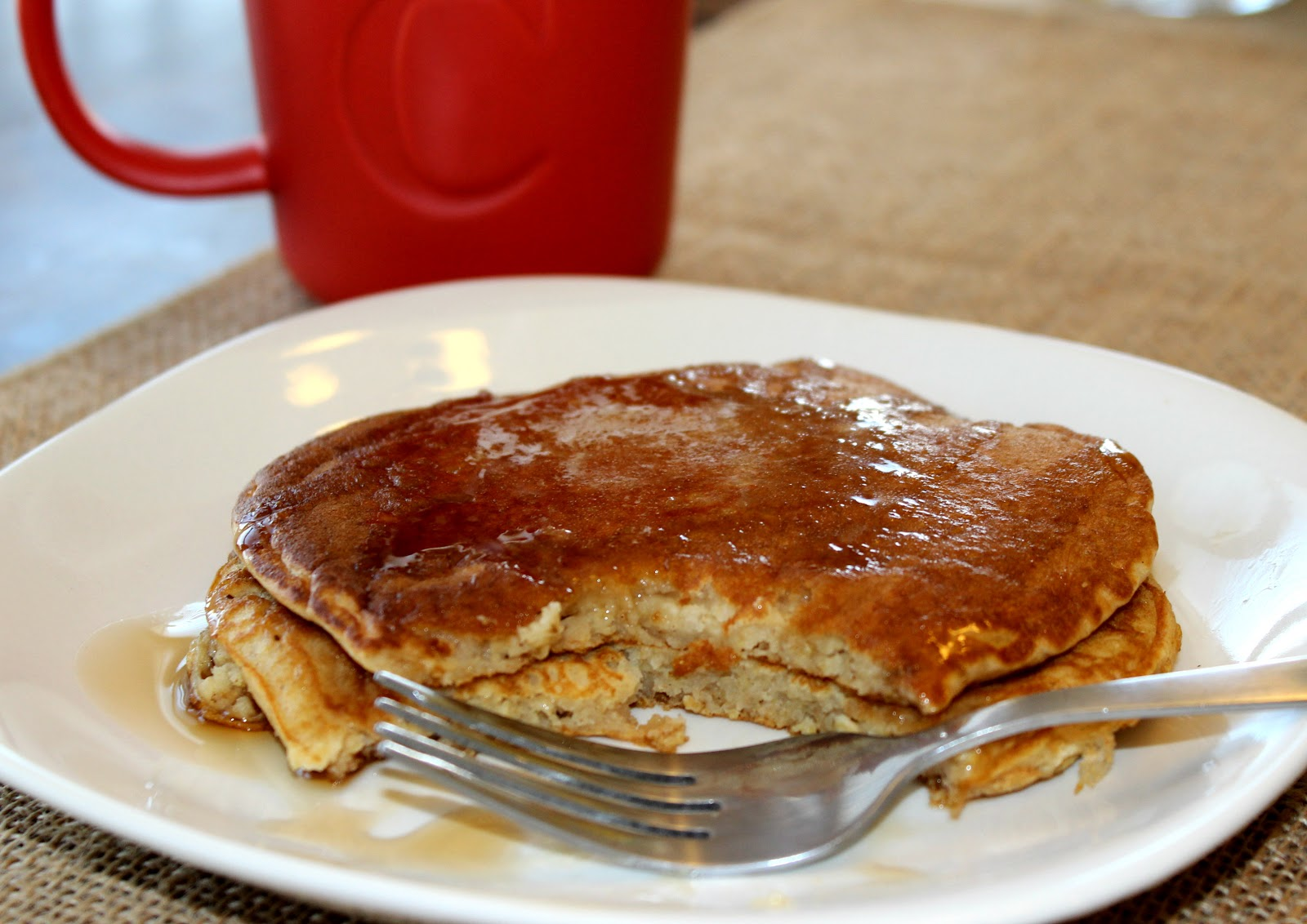 sugar & spice: Apple Oatmeal Pancakes