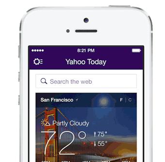 Iniciar sesion en la nueva app Yahoo i OS7