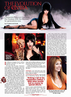 Page 36 from Fangoria #344 featuring Elvira