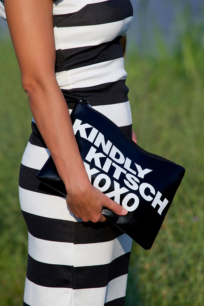 black white clutch