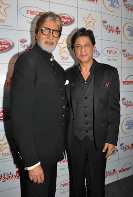 Amitabh Bachchan and Shahrukh Khan at the 'Saath Hain Hum Uttarakhand' event
